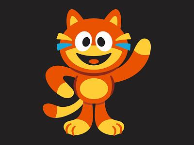 Tango Cat the Ghost happy character cartoon identity cat logo mascot