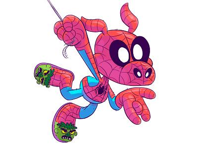 Spider-Ham illustration kids character cartoon spiderman
