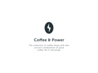 coffee & power logo concept