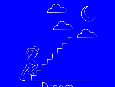 Dream Line Art drawing simple pen tool vector lineart line dream