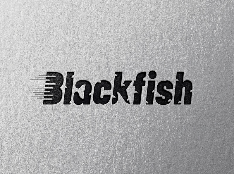 Speedy Black Fish Logo Design black whale logo whale speedy black fish logo design