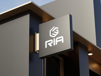 RIA Real Estate Logo hand shaking logo minimal logo strong logo branding friendly logo ria real estate logo