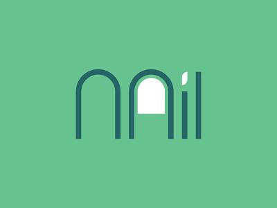 Nail Logo! finger logo clean logo typography logo simple logo wordmark logo nail logo