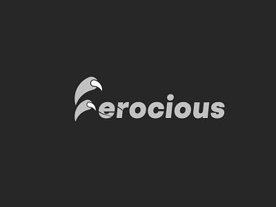 Ferocious Logo! minimalist minimal simple gray logo wordmark logo ferocious logo