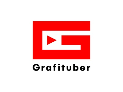 Grafituber Youtube Channel Logo! brand identity branding minimalist minimal simple g logo new youtube channel logo grafituber youtube channel logo