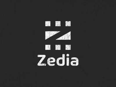 Z-initial Video Company Logo classic video logo brand identity branding simple black and white cinema company logo z-initial video company logo