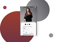 E-commerce UI screen