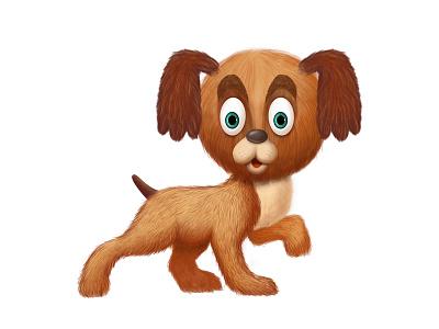 Toplan Character Illustration 2d cartoon cute little character dog toplan