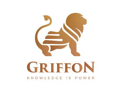 Griffon Logo template animal power king symbol logo lion griffon