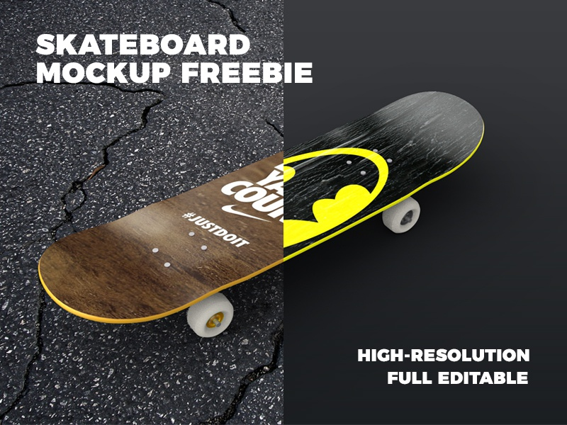 Download Skateboard Mockup Freebie