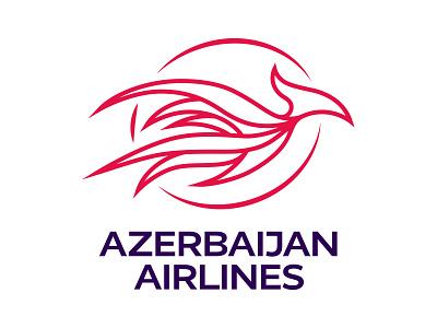Azerbaijan Airlines Logotype red logotype logo airplane flight bird phoenix airlines azerbaijan