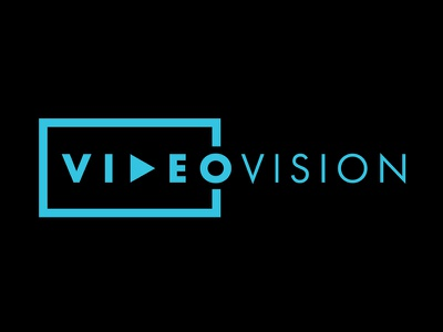 VideoVision Logotype mapping 3d projection play logotype logo vision video