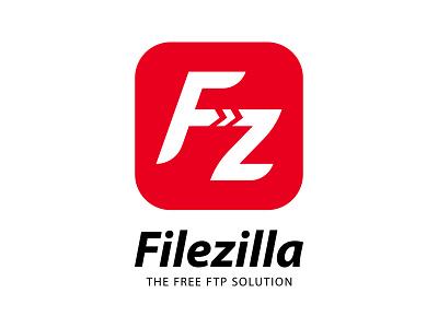 Filezilla Logotype Concept icon software transfer ftp file concept logotype logo filezilla