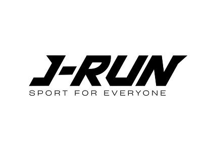 J-RUN — Sport brand logotype logotype logo dynamic typography brand sport run j-run