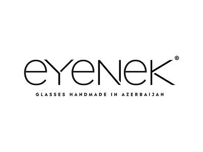 eyenek logotype font minimal glasses typography azerbaijan handmade logotype eyenek