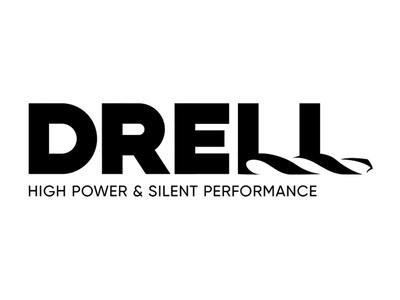Drell Logotype master construction font type typography power drill drell