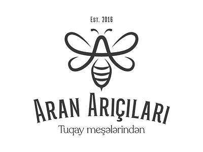 Aran Arıçıları Logotype minimal symbol nature aran honey bee azerbaijan type font typography logotype logo