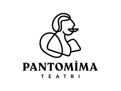 Pantomime Theatre Logo Design lines surrealism teatr silhoutte baku pantomima azerbaijan shapes abstract logotype design logo theatre pantomime