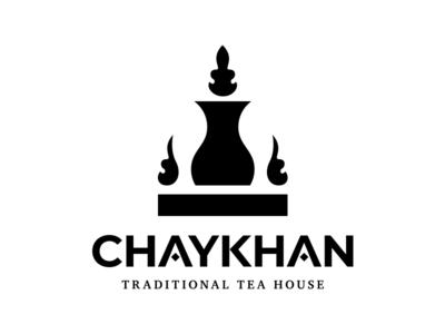 Chaykan logo logotype logo cup turkish chaykhana azerbaijan glass armudu traditional tea chay
