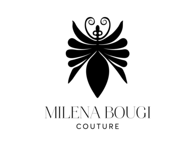 Milena Bougi couture fashion bug logotype logo couture bougi milena