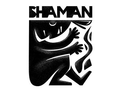Shaman Ex Libris native american indian vodoo symbol ex libris shaman