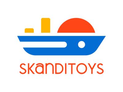 skanditoys logo toy wooden scandinavia ship symbol logotype logo