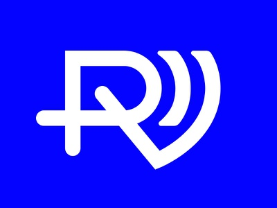 radiovibess™ — monogram logo design minimal font type typography logotype monogram logo monogram rv vibes radio