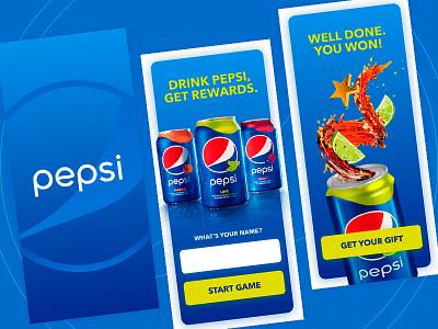 Pepsi Game UI drink blue adobexd ui uidesign uiux dailyui uxdesign game pepsi