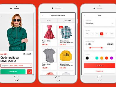 shop.az UI/UX design interface light shopaz shop online store store ecommerce uiux app design ui minimal azerbaijan