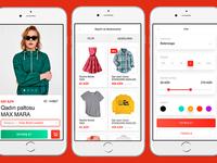 shop.az UI/UX design