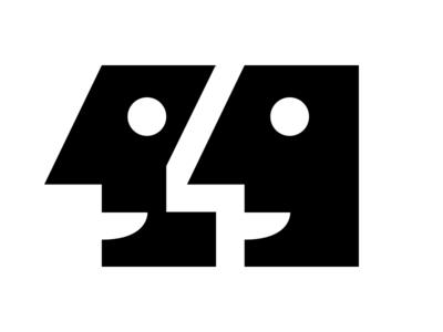Eleven or quote illustration heads logo symbol quote eleven