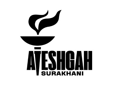 Ateshgah Fire Temple logotype logo azerbaijan baku burning symbol typography temple fire ateshgah