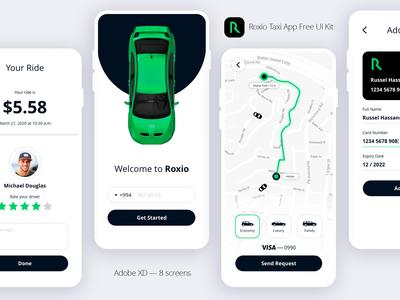 Taxi App Free XD UI Kit