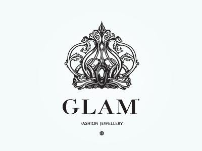 Glam logofashion jewellery shop moscowrussia logo moscow