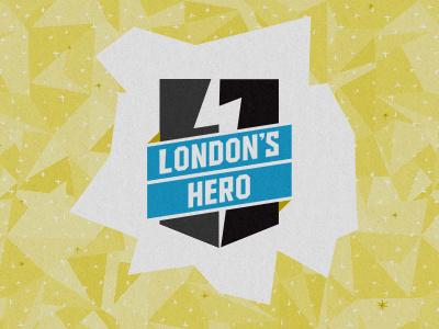 London's Hero Banner london hero event logo pattern superhero