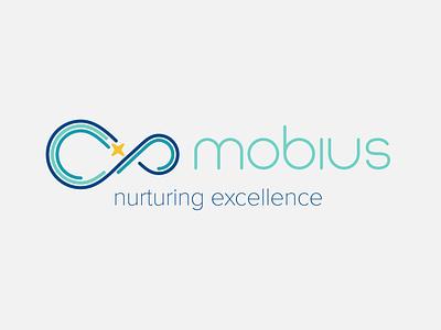 Mobius Tutoring icon typography vector branding design illustration logo