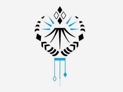 Tattooed All Black & Blue tattoo design illustration