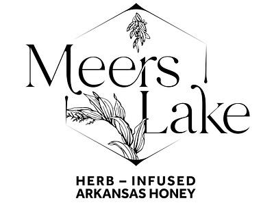 Meers Lake Logo typography branding design illustration logo