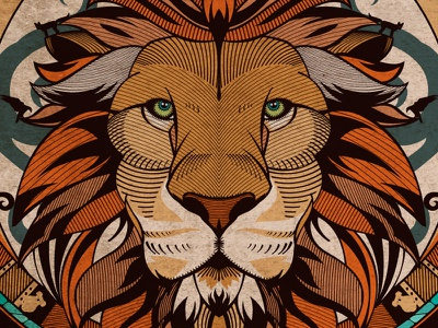 Garleone Identity 🦁 Family Crest (2013) leon garza heron lion aminal adobe illustrator design illustration vector