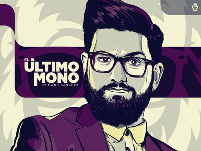 El Ultimo MONO 🐵 by Manu Sánchez graphic design tv show glasses humor tv comedy portrait adobe illustrator illustration design vector