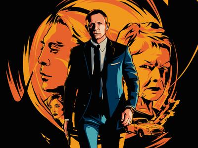 SKYFALL (2012) 🔫Movie Poster 2012 james bond judi dench javier bardem daniel craig skyfall 007 movie portrait adobe illustrator illustration design vector