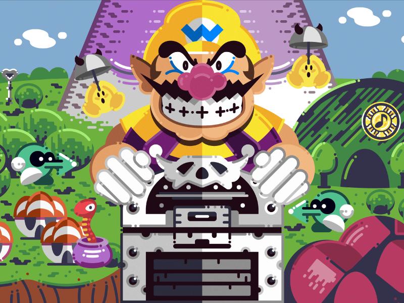 Wario Land 3 adobe graphicdesign design art illustration drawing mariokart yoshi luigi game simetry wii gameboy supermario mariobros videogames mario warioland3 nintendo wario