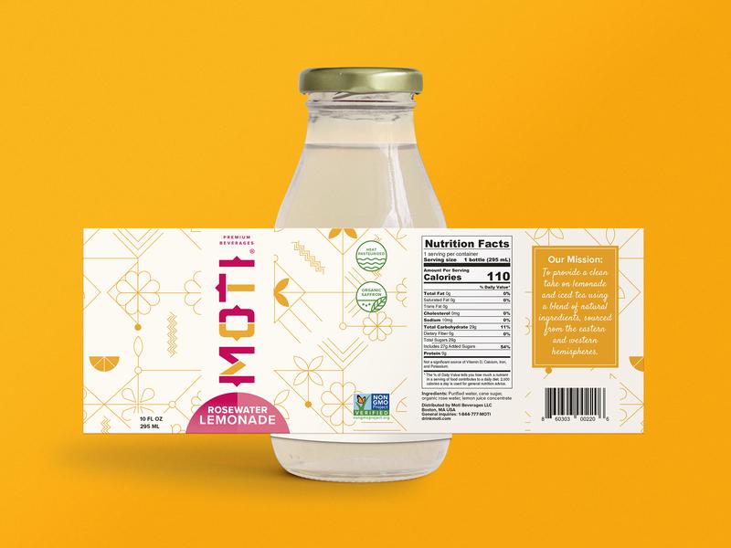 Rebrand and Label Design for Moti Beverages rebranding branding beverage packaging bottle label logo drink beverage