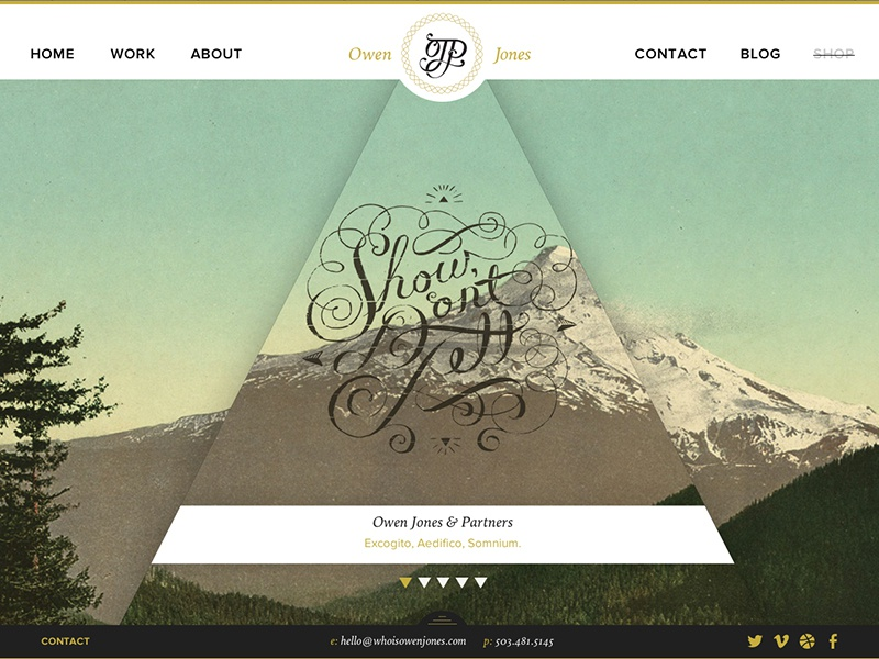 Owen Jones Website website interactive