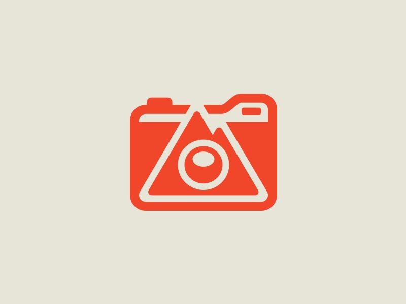 Photographer brand icon icon camera photographer mountain brand branding