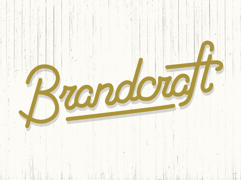 Brandcraft  logo typography illustration lettering script logotype
