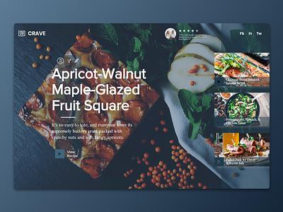 Food Blog   Wix Responsive Design header design food blog responsive web design wix web design