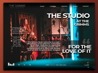 Music Website Concept 2   The Grimms Music Collective