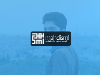 MahdiSml Logo with Persian Style (Hello Dribbble !)