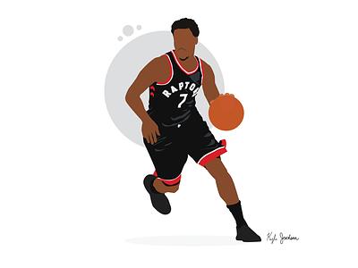 Kyle Lowry basketball nba sports vector illustrator illustration visual design
